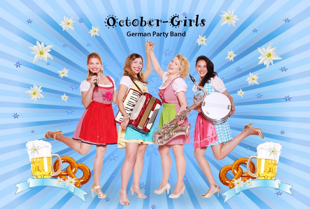 Oktoberfest Kapelle October Girls spielt die Wiesn Hits weltweit als reine Damenband