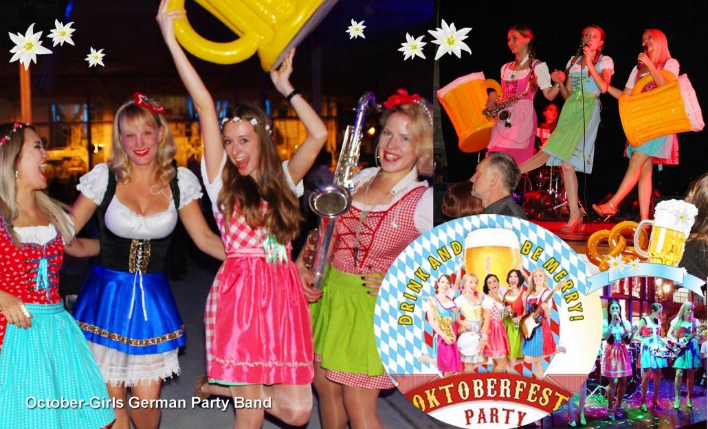 Partyband October Girls mit Oktoberfest Musik und Stimmungshits
